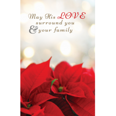 May His Love Christmas Card (Red flower)