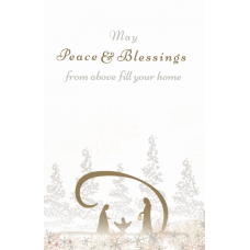May Peace & Blessings Christmas Card