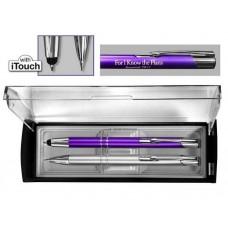 Adoration Gift Set - Violet/Silver Pen And Pencil