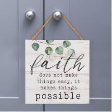 Hanging Sign, Faith
