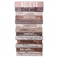 Believe God Will Wall Plaque