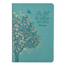 Be Still & Know Teal Luxleather Journal
