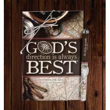 God's Direction is Always Best Devotion Book & Pen Set