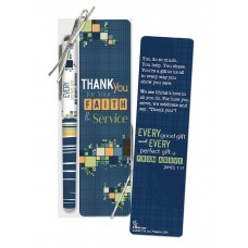 Thank You For Bookmark and Pen Gift Set