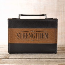 Bible Case I Will Strengthen You, Large