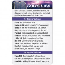 God's Law Bible Reference Card