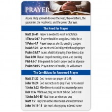 Prayer Bible Reference Card