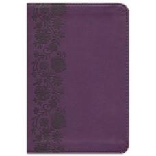 NKJV Thinline Compact Bible, Leathersoft Purple