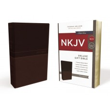 NKJV Deluxe Gift Bible, Toffee Leathersoft