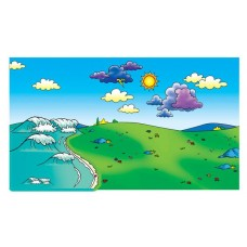 Felt Storyboard Meadow and Ocean Overlays