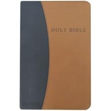 Personal Size Giant Print Reference Bible (Black/Tan)
